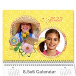 Family/Friends-holidays wall calendar 8.5x6 - Wall Calendar 8.5  x 6