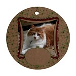 Christmas Glitter & Craft-ornament(round) - Ornament (Round)