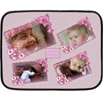 Named and Framed in Pink Mini Fleece Blanket - Fleece Blanket (Mini)
