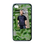 Green iPhone - iPhone 4 Case (Black)