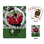 Soccer is Life- playing cards - Playing Cards Single Design (Rectangle)