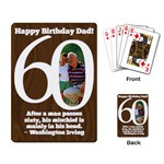 Birthday/Dad/60-playing cards - Playing Cards Single Design