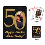 50th Anniversary/wedding-playing cards - Playing Cards Single Design