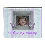 Mommys Angel stripe cosmetic bag - Cosmetic Bag (XL)