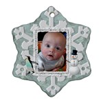 Winter Snowflake Ornament (1 Sided) - Ornament (Snowflake)