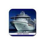 Crown Princess coaster - Rubber Coaster (Square)