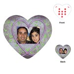 Purple Heart Demure Heart Shaped Playing Cards - Playing Cards (Heart)