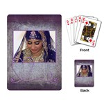 Purple Heart Demure Rectangle Playing Cards - Playing Cards Single Design
