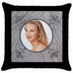 Black Elegance Throw Pillow Case - Throw Pillow Case (Black)