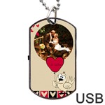 Love  usb 2 sides - Dog Tag USB Flash (Two Sides)