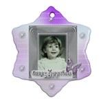 Purple butterfly bubble christmas tree ornament - Snowflake Ornament (Two Sides)