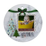 Tis The Season Round Ornament (2 Sided) - Round Ornament (Two Sides)