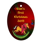 liams first christmas - Ornament (Oval)