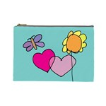 kids art whimsy bag - Cosmetic Bag (Large)