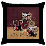 budha1 - Throw Pillow Case (Black)