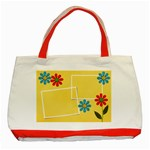 Classic Tote Bag: Summer Flowers - Classic Tote Bag (Red)