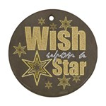 Wish Upon a Star double sided Round Ornament - Round Ornament (Two Sides)
