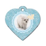 Maxine Blue Dog Tag - Dog Tag Heart (Two Sides)