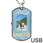 Just Beachy Sunny Days Data Dog Tag - Dog Tag USB Flash (Two Sides)