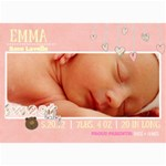 BABY GIRL CARD - 5  x 7  Photo Cards