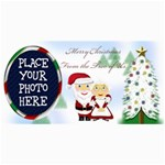 Mr&Mrs Claus Christmas Card 8 x4  - 4  x 8  Photo Cards