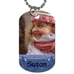 blue Frill Dog Tag (2 sided) - Dog Tag (Two Sides)