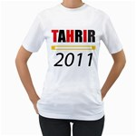 Tahrir Tshirt - Women s T-Shirt (White) (Two Sided)