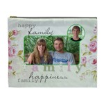xl cosmetic bag family happiness - Cosmetic Bag (XL)
