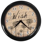 Wish Clock - Wall Clock (Black)