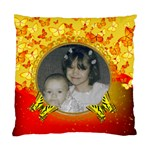 red and yellow butterfly pillow - Standard Cushion Case (One Side)