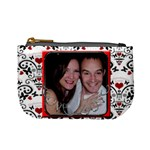 Red framed cute and funky girlfriend valentines mini purse - Mini Coin Purse