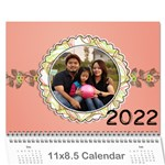 2019 Happy Family 11x8.5 - Wall Calendar 11  x 8.5  (12-Months)