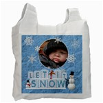 Let It Snow Recycle Bag (1 Side) - Recycle Bag (One Side)