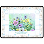 Flower Garden Blanket - Fleece Blanket (Large)