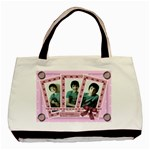 Pink triple frame bag - Basic Tote Bag (Two Sides)