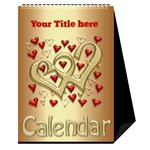 Our Love Calendar (any Year) - Desktop Calendar 6  x 8.5