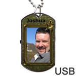My Military Star dog Tag USB Flash - Dog Tag USB Flash (One Side)