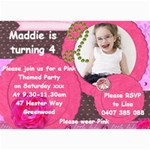 Maddie birthday invitation 2012 - 5  x 7  Photo Cards