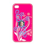 squiggle flower iphone - iPhone 4 Case (Color)