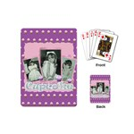 I love my little cupcake pink and purple mini playing cards - Playing Cards Single Design (Mini)