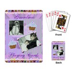cupcake playing cards in purple and green - Playing Cards Single Design (Rectangle)