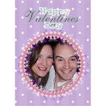 Be my valentine balloon frame card - Greeting Card 5  x 7