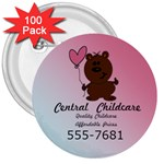childcare button - 3  Button (100 pack)