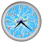 Squiggles clock - Wall Clock (Silver)