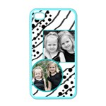 iPhone 4 case black and turquoise - iPhone 4 Case (Color)