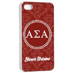Alpha Sigma Alpha Sorority iPhone 4/4s Case - Apple iPhone 4/4s Seamless Case (White)