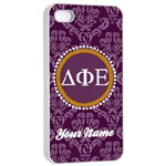 Delta Phi Epsilon Sorority iPhone 4/4s Case - Apple iPhone 4/4s Seamless Case (White)