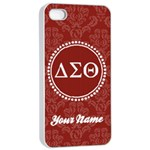 Delta Sigma Theta Sorority iPhone 4/4s Case - iPhone 4/4s Seamless Case (White)