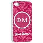 Phi Mu Sorority iPhone 4/4s Case - iPhone 4/4s Seamless Case (White)