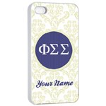 Phi Sigma Sigma Sorority iPhone 4/4s Case - iPhone 4/4s Seamless Case (White)